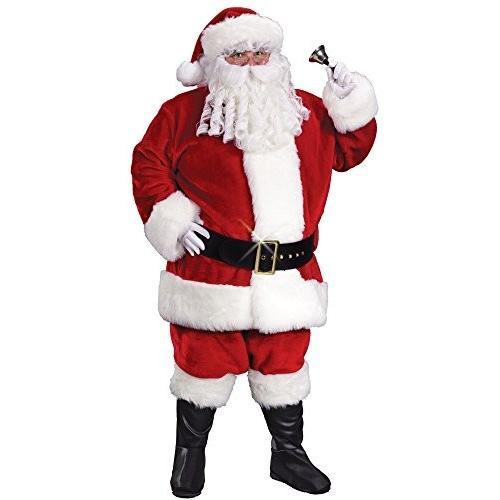 ファン World コスチューム メンズ Plus-サイズ Plus サイズ アダルト プレミアム Plush サンタ スーツ, クリム海外取寄せ品