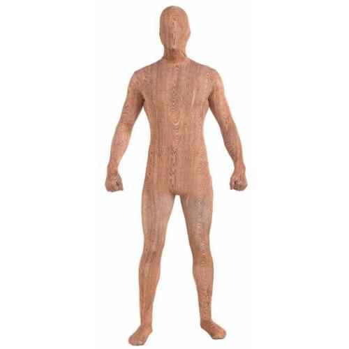 フォーラム ノベルティ メンズ Disappearing マン パターン ストレッチ Body スーツ コスチューム ウッデン Plan海外取寄せ品