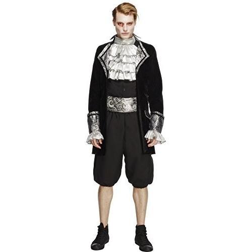 Smiffy's メンズ フィーバー Male Baroque バンパイア コスチューム, ジャケット, パンツ, Cravat and海外取寄せ品