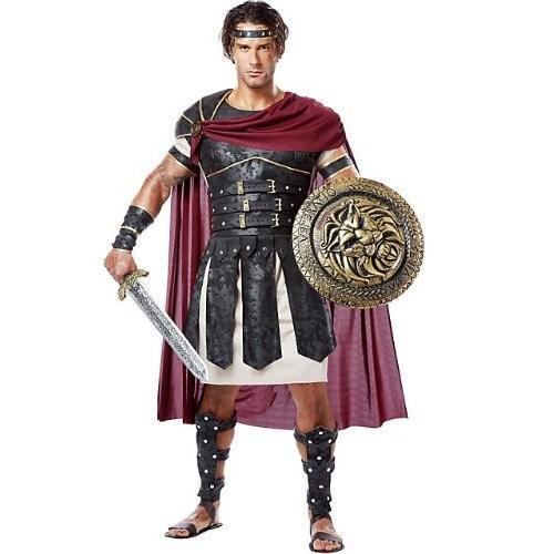 カリフォルニア コスチューム メンズ ロマン Gladiator アダルト, ブラック/Burgundy, Medium海外取寄せ品
