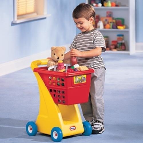 リトル Tikes Shopping Cart with ディープ バスケット and ストレージ ビロウ海外取寄せ品