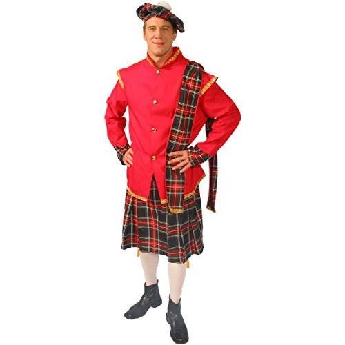 Alexanders コスチューム メンズ Scottish Lad, レッド, ラージ海外取寄せ品