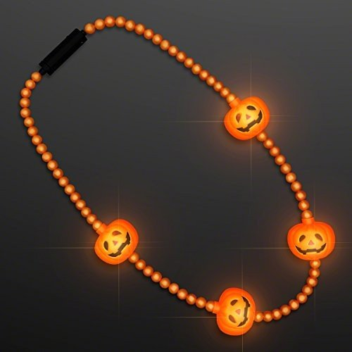 LED Pumpkin Light ビーズ, ハロウィン ジュエリー (Set of 12)海外取寄せ品