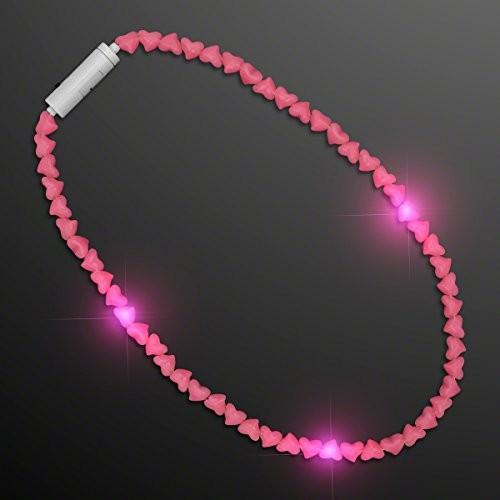 LED ピンク ハート ビーズ ネックレス (Set of 12)海外取寄せ品