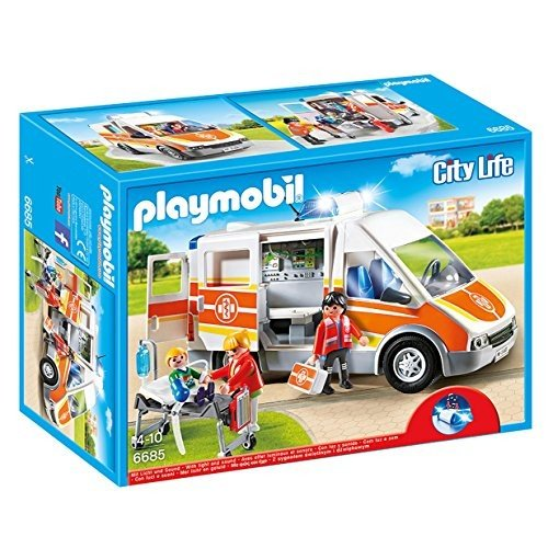 PLAYMOBIL Ambulance with ライト and Sound プレイセット海外取寄せ品