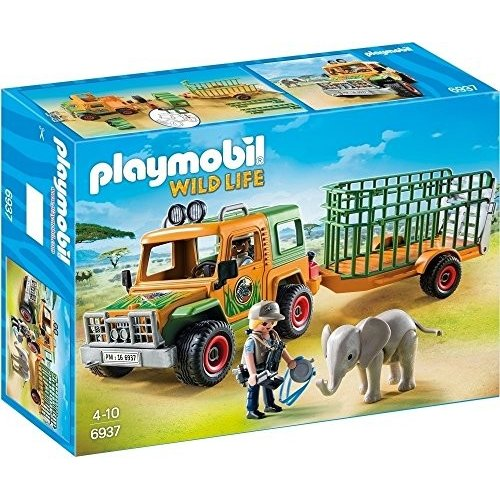 PLAYMOBIL Ranger's Truck with Elephant海外取寄せ品
