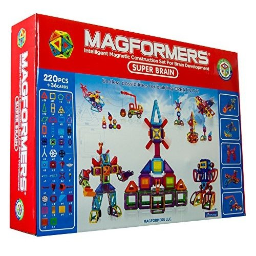 Magformers Deluxe Super Brain セット (220-pieces)海外取寄せ品
