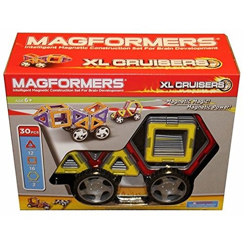 Magformers 32-ピース Magnetic Construction セット: XL クルーザー海外取寄せ品