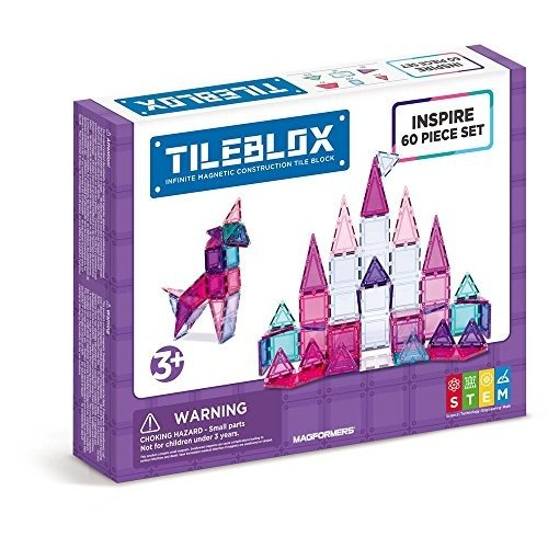 MAGFORMERS Tileblox Inspire 60pc Building-and-Stacking-Toys (60 Piec海外取寄せ品