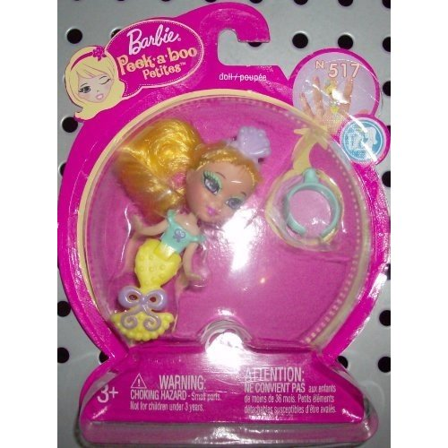 バービー Barbie Peek-A-Boo Petites リング イエロー マーメイド 517海外取寄せ品