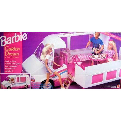 バービー Barbie ゴールデン ドリーム モーター ホーム - Motorhome Van/ Bus w/