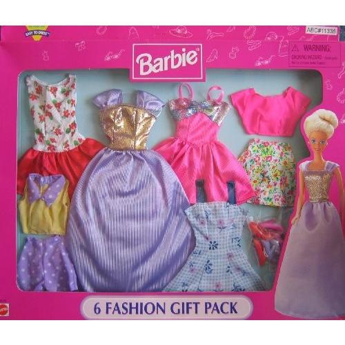バービー Barbie 6 ファッション ギフト パック - イージー To ドレス (1998 Arcotoys, Mattel)海外取寄せ品
