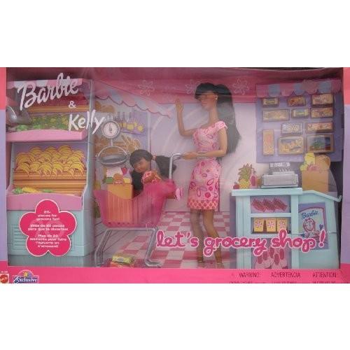バービー Barbie & Kelly レッツ GROCERY SHOP 27 ピース AA プレイセット TOYS