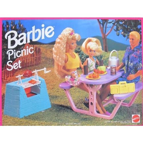 バービー Barbie PICNIC セット プレイセット w Barbecue w Spit, Picnic テーブル & MORE!海外取寄せ品