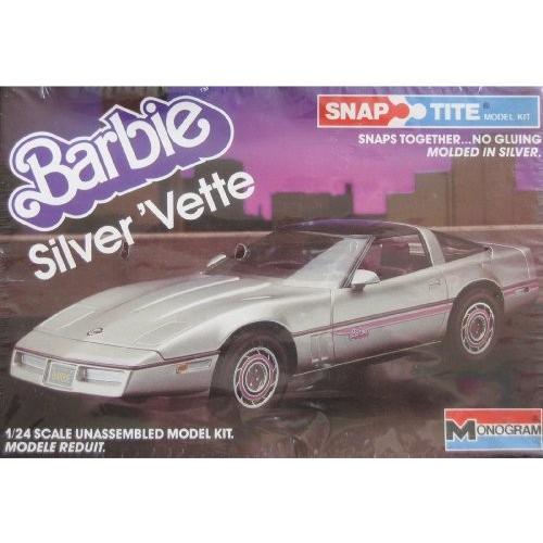 バービー Barbie シルバー 'Vette - スナップ Tite Plastic Model キット (1984 Monagram海外取寄せ品