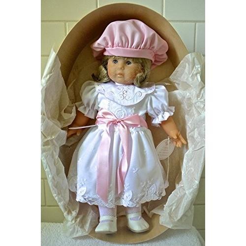 ヴィンテージ Corolle 1987 Catherine Refabert ドール in ホワイト ドレス with ピンク ハット 海外取寄せ品
