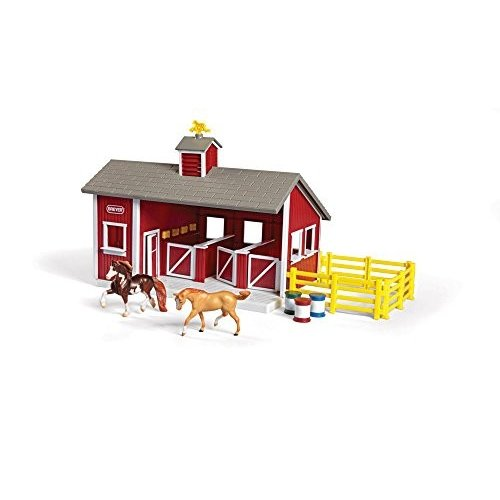 Breyer Stablemates レッド Stable and ホース セット海外取寄せ品