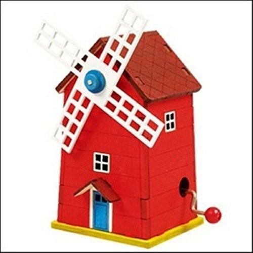 Dollhouse ミニチュア 1:12 Scale DIY Windmill ミュージック ボックス キット #G7152海外取寄せ品