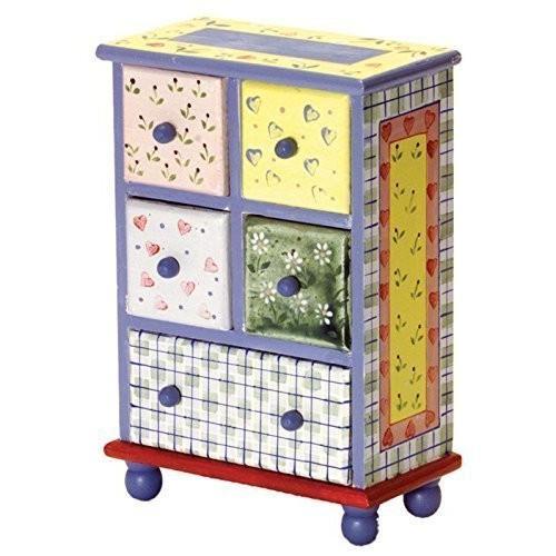 1:12 Scale 4-drawer Plaid チェスト #Ewdp2124海外取寄せ品