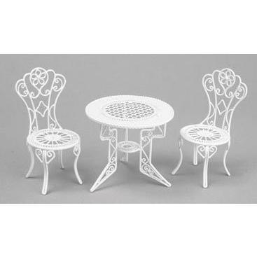 Dollhouse テーブル & CHAIR セット, 3PC, ホワイト海外取寄せ品