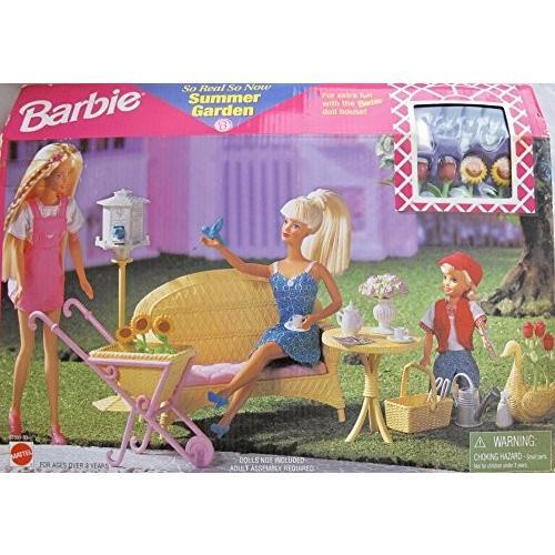 バービー Barbie So Real So Now サマー ガーデン プレイセット w フォークス WICKER FURNITURE 海外取寄せ品