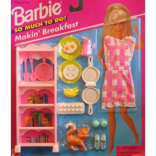 バービー Barbie So Much To Do Makin' Breakfast プレイセット (1995 Arcotoys, Ma海外取寄せ品