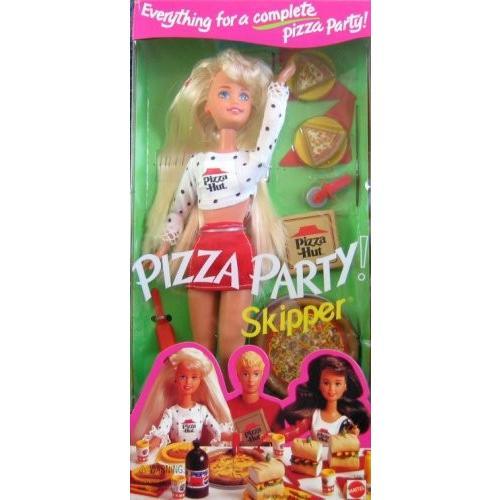 スキッパー ドール Pizza パーティー バービー Barbie Mattel 1994海外取寄せ品