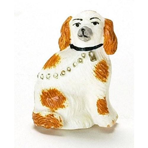 Dollhouse ミニチュア ペア of Staffordshire Dogs by Falcon ミニチュア海外取寄せ品