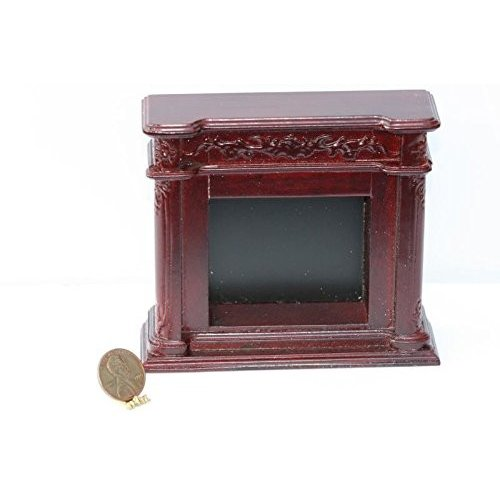 Dollhouse ミニチュア Ornate Mahogany Fireplace海外取寄せ品