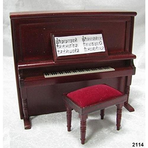 Dollhouse ミニチュア Victorian Upright Piano and マッチング Bench海外取寄せ品