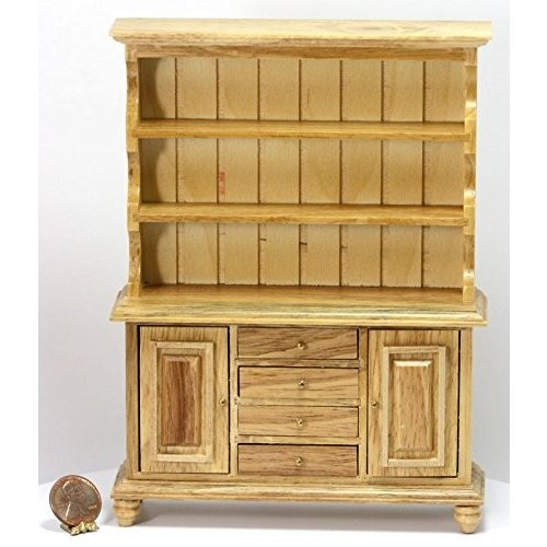 Dollhouse ミニチュア English/ Welsh Cupboard with Working Drawers & Doors海外取寄せ品