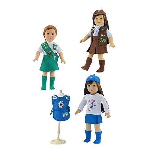 18-インチ ドール Clothes | バリュー パック - 3 Girl Scout インスパイアー Uniforms, Inclu海外取寄せ品