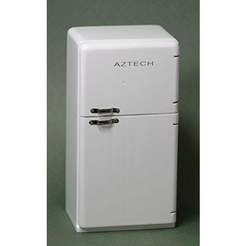 Dollhouse ミニチュア レトロ Refrigerator in ホワイト from Town スクエア ミニチュア海外取寄せ品
