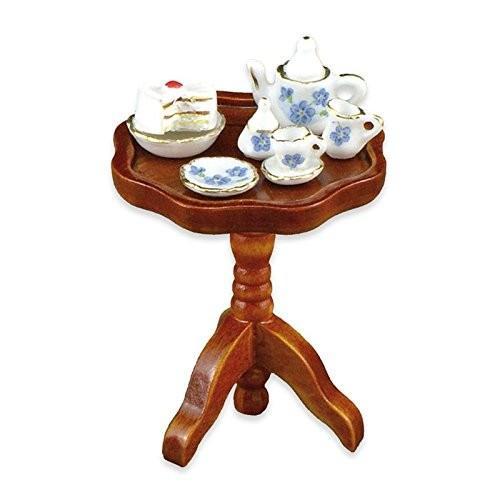 Dollhouse ミニチュア 1:12 Occasional テーブル w/ティー セット by Reutter Porcelain海外取寄せ品