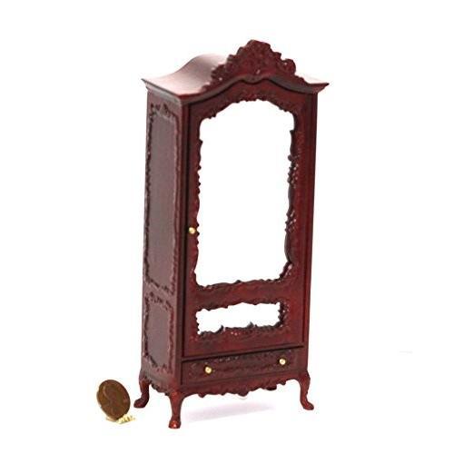 Dollhouse ミニチュア Victorian ハンド Carved Mahogany ミラー Armoire海外取寄せ品