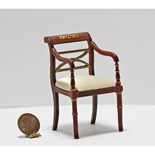 Dollhouse ミニチュア Upholste赤 Regency Side Chair in チェリー海外取寄せ品