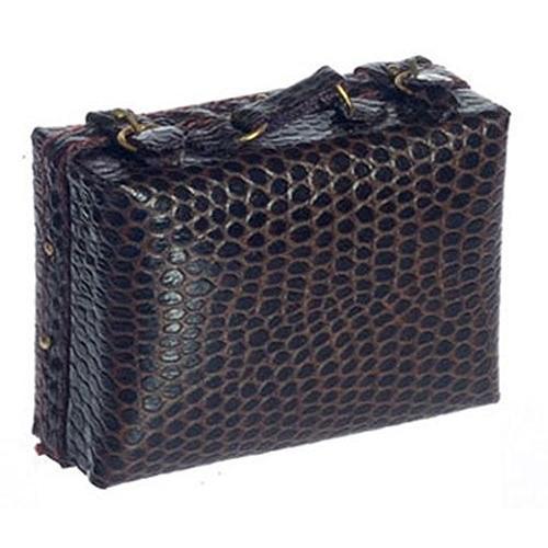 Dollhouse ミニチュア Medium ラゲッジ ヘビ革 レザー ルック Suitcase by Falcon ミニチュア海外取寄せ品