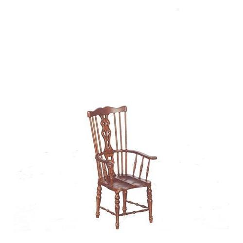 Dollhouse ミニチュア 1:12 カントリー Windsor Armchair in ウォールナット海外取寄せ品