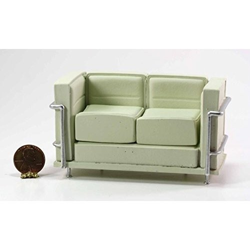 Dollhouse ミニチュア Le Corbusier Sofa in クリーム with リムーバブル クッション海外取寄せ品