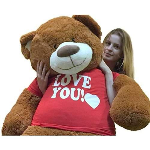 ビッグ Plush 5 Foot Giant Teddy クマ Wearing I ラブ YOU Tシャツ 60 インチ ソフト Cin海外取寄せ品