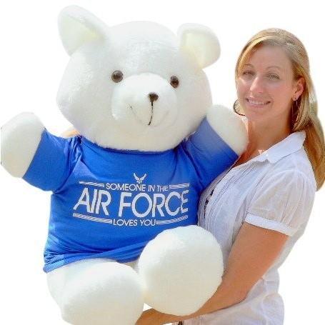 アメリカン メイド Giant Teddy クマ 36 インチ ソフト, Wears リムーバブル T シャツ Someone in t海外取寄せ品