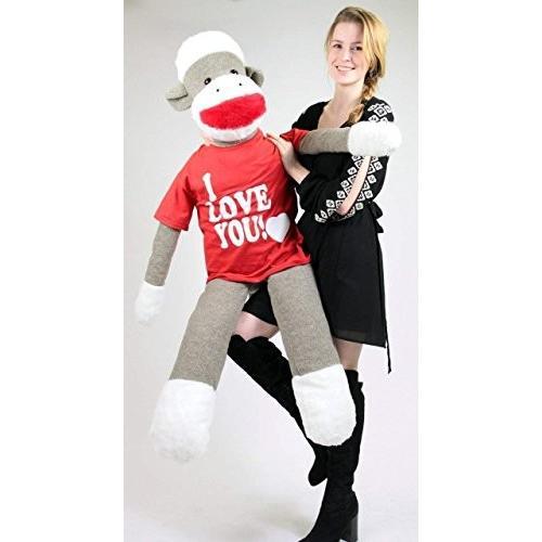 アメリカン メイド ビッグ Plush Giant ソックス サル 54 インチ ソフト Wears リムーバブル Tシャツ I ラブ 海外取寄せ品