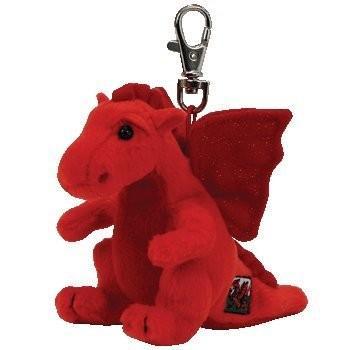 Y DDRAIG GOCH the レッド Dragon (UK Exclusive) - Ty Beanie ベビー キー Clip海外取寄せ品