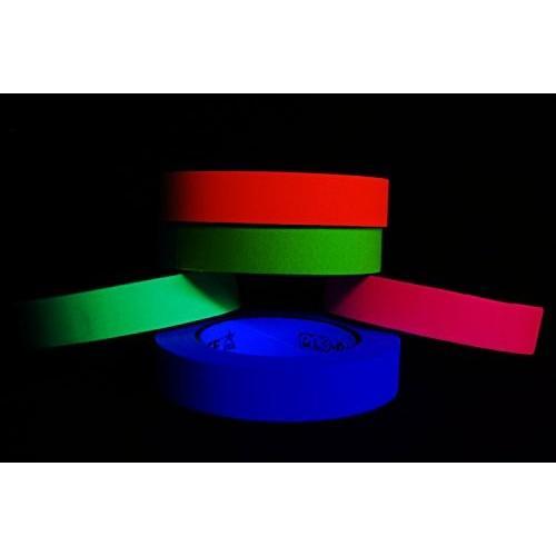 5 パック 1 インチ 黒light Reactive Fluorescent Gaffer テープ (25 Yards パー 海外取寄せ品