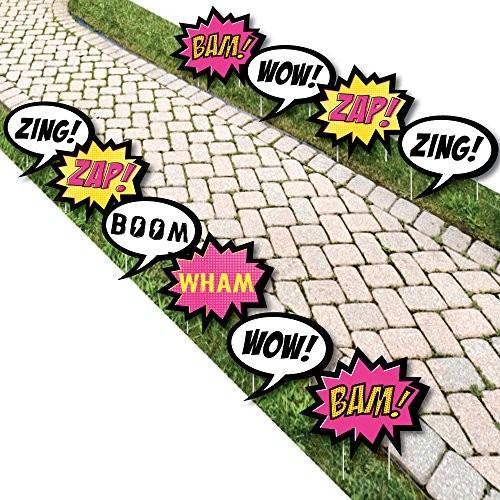 BAM! ガール スーパーヒーロー - コミック ブック Lawn デコレーション - アウトドア ベビー Shower or Birt海外取寄せ品
