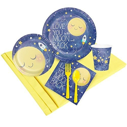 To The ムーン & バック Childrens Birthday パーティー サプライ - Tableware パーティー パック海外取寄せ品