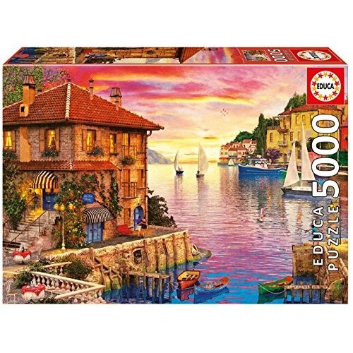 Educa Children's 5000 the Mediterranean Harbor Dominic Davison パズル (海外取寄せ品