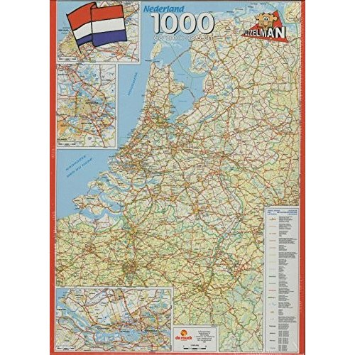 Puzzleman 1000 ピース パズル - Roadmap of The Netherlands海外取寄せ品