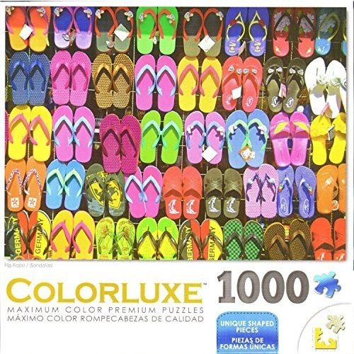 Colorluxe 1000 ピース パズル - フリップ Flops by ジョージ海外取寄せ品