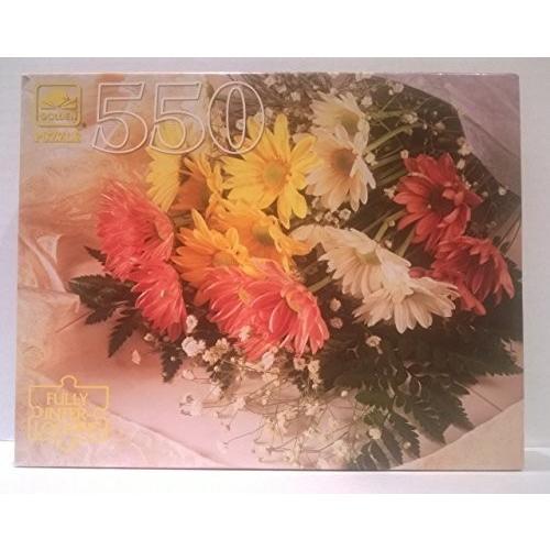 ゴールデン 550 ピース ジグソーパズル パズル 'Daisies on Lace'海外取寄せ品